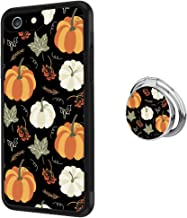 Case for iPhone 6s 6 Pumpkin Pattern Anti-Scratch Hard Backplate Back Cover with Ring Holder for iPhone 6s 6 Black Shock-Proof Protective Case [Anti-Slippery]