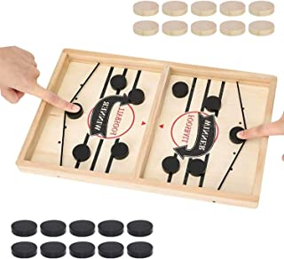 GiftWorld Sling Puck Game - 22in x 12in Large Size Fast Table Hockey for Kids, Birthday Gifts, Adults, Family and Leisure ...