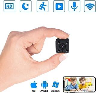 Cámaras espía PiAEK 1080P HD Cámaras de vigilancia Mini WiFi Cámara Oculta con Detector de Movimiento y IR Visión Nocturna