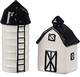 Ceramic Farmhouse Salt & Pepper Shaker Set (Barn & Silo)