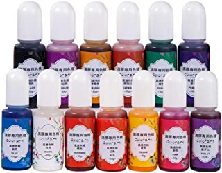 ZHANGLI Resin Pigment, DIY Crystal Epoxy Special High Transparency Color Precisions Set, Colour Liquid UV Epoxy Quick Dryi...