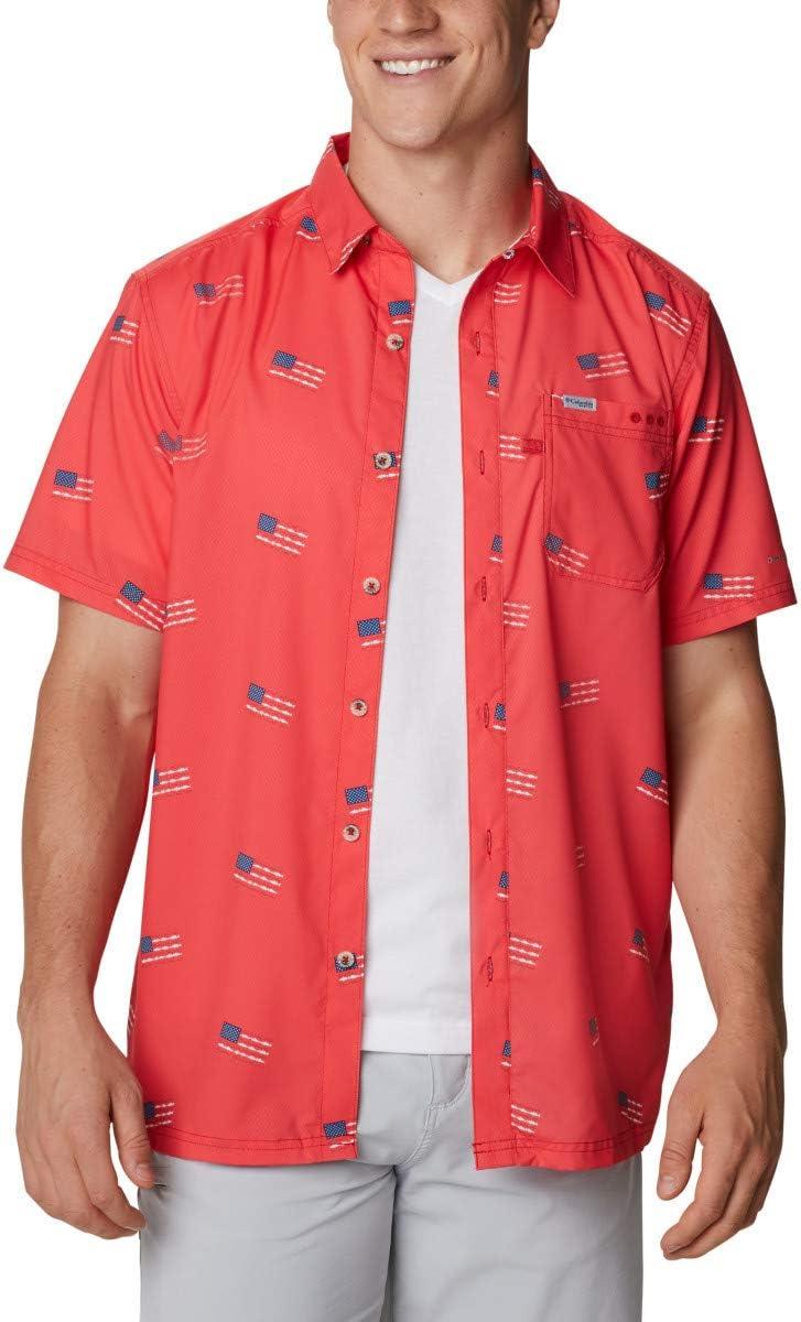 Columbia Men's PFG Be super welcome Super Sale Special Price Tide Shirt Camp Slack