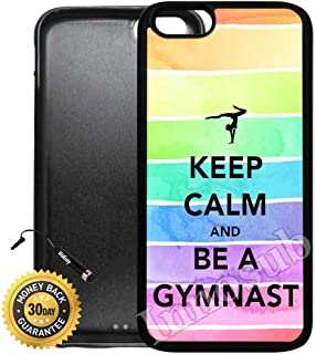 Custom iPhone 7 Plus Case (Keep Calm Be A Gymnastic) Edge-to-Edge Rubber Black Cover with Shock and Scratch Protection   Lightweight, Ultra-Slim   Includes Stylus Pen by Innosub