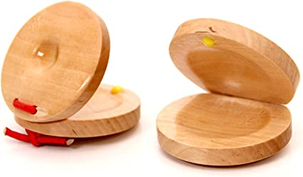 HELYZQ Wooden Castanets Wood Percussion Flamenco Musical ...