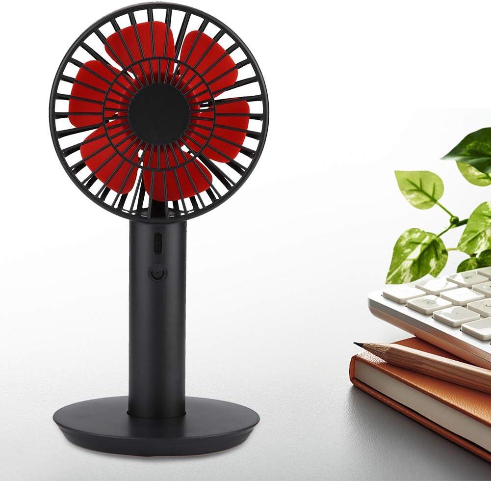 TOPINCN Mini Ventilateur Portable USB de Bureau Portable avec Affichage de l/'/électricit/é et Ventilateur Personnel Rose