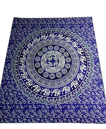 LvRao Drucken Tapisserie Bohemian Traditionelle Indische Wandbehang Tabelle Vorhang Wand Decor Tisch Picknick Decke Beach Elefant #4 M:150 * 130cm