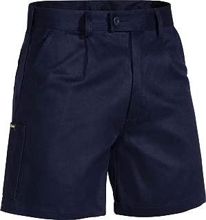 BISLEY WORKWEAR Men's Original Cotton Drill Work Short,Dark Navy, 97 Regular