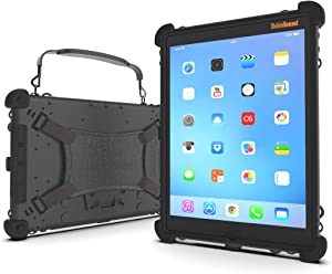 MobileDemand Ultra Rugged Case for iPad 10.2   MIL-STD-810G   Lightning Port Cover   Briefcase Handle, Back Hand Strap, Mountable
