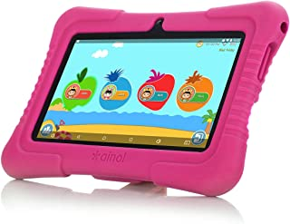 Ainol Q88X 7inch A50 Cortex-A7 Android 8.1 OS BT4.0 1+16G Kids Tablet PC GMS with Kid-Proof Case for Kids Education Entertainment (Pink)
