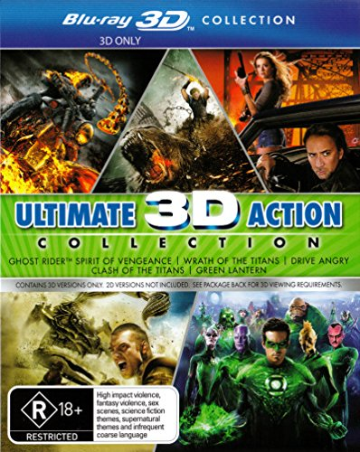 Clash of the Titans / Drive Angry / Green Lantern 3D Blu-ray | 5 Discs | NON-USA Format | Region B Import - Australia