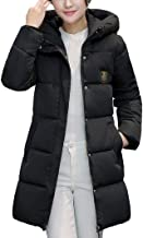 Jushye Women's Down Jacket Coat, Ladies Solid Casual Thicker Winter Outwear Slim Down Lammy Long Overcoat