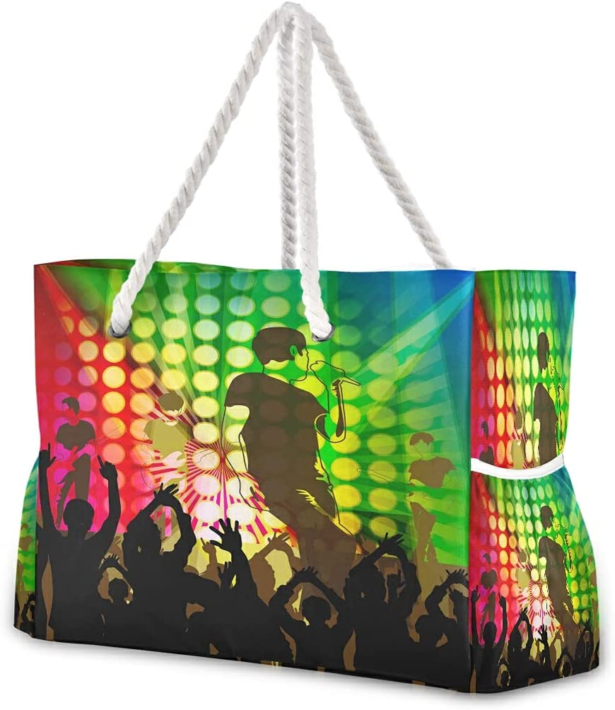 Large Beach Bags Totes 11 Canvas The Bag Shoulder Tote Art Sales of SALE items from new works Music Max 70% OFF