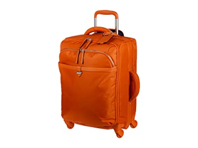 Lipault Paris Spinner 55/20 Carry-On (Flash Coral) Bags