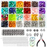 Yehtta Ring Making Kit 1600Pcs Crystal Jewelry Making Kit with Gemstone 20 Colors Crystal Beads DIY Earring Making Supplies with Letter Beads Friendship Bracelet Kit Pendants Charms for Making