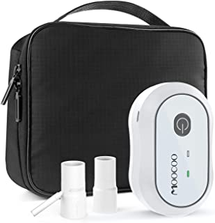 CPAP Cleaner and Sanitizer, Moocoo 2019 Premium Portable CPAP Sanitizer Bundle Rechargeable for CPAP Machine, Mask, Tube and Equipment, Includes T Adapter, Cleaning Bag, Heated Hose Adapter
