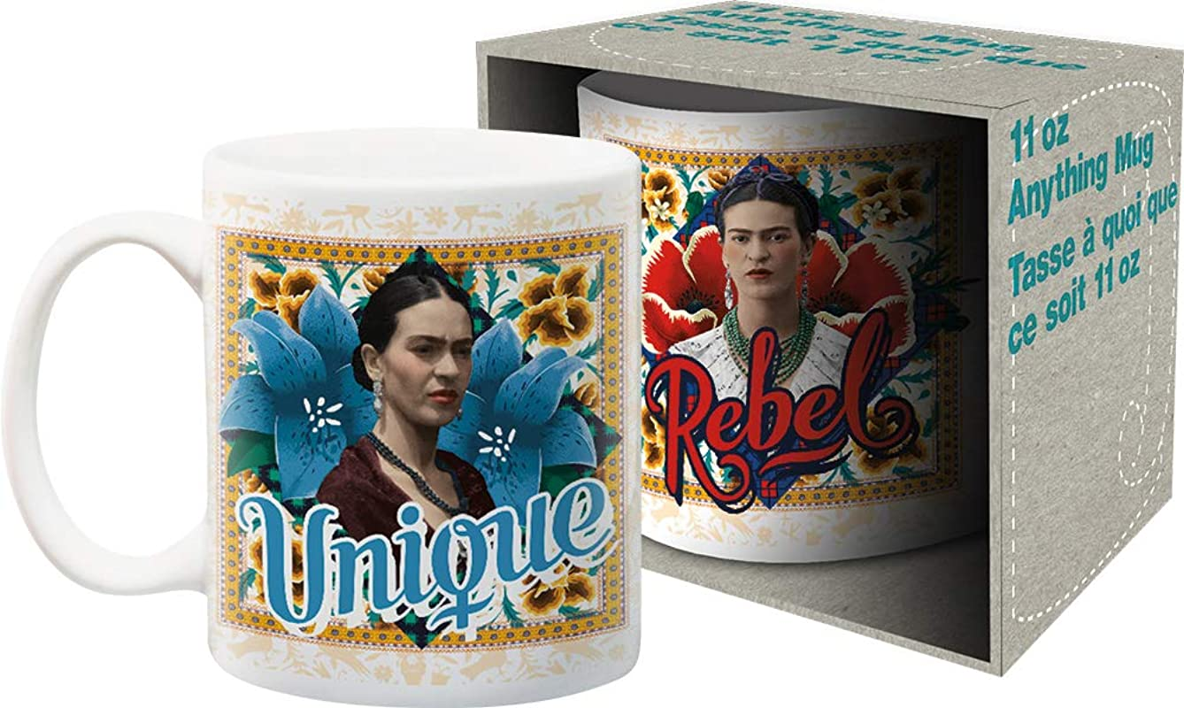Aquarius Frida Kahlo 11oz Boxed Ceramic Mug Multi Color 8