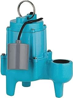 Submersible Sewage Pump, 4/10HP, 115V, 20ft