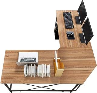 Soges 59 x 59 inches Large L-Shaped Desk Computer Desk L Desk Office Desk Workstation Desk, Oak CS-ZJ02-OK