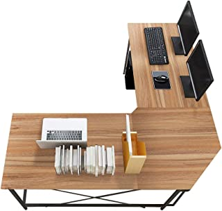 Soges 59 x 59 inches Large L-Shaped Desk Computer Desk L Desk Office Desk Workstation..