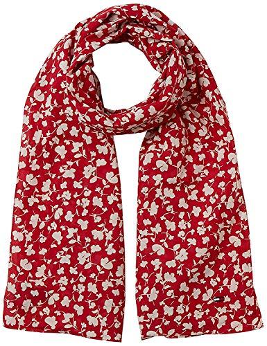Tommy Jeans dames TJW APPAREL PRINT SCARF sjaal, rood (Samba 661), één maat (fabrikantmaat: OS)