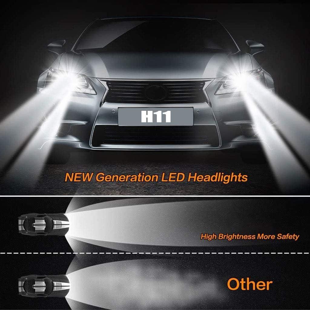 Pack of 2 Dual High//Low Beam Fog Light 6500K 8000LM Plug/&Play igingko H11//H9//H8 LED Headlight Bulbs Conversion Kit X16 Series 4 Side COB Chips Super Bright 360 Degree Auto Headlamp