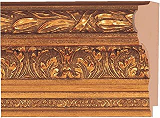 Picture Frame Moulding (Wood) 18ft Bundle - Ornate Antique Gold Finish - 4