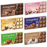 Schogetten Assortment of German Chocolates 6 Variety Pack, 100gram Each