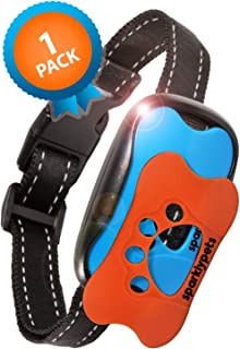 SparklyPets Humane Dog Bark Collar | Anti Barking Training Collar | Vibrating, No Shock Stop Barking for Small Medium Large Dogs | Upgraded 2019 Pet Corrector (1 Pack)