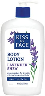 Kiss My Face Moisturizer Lavender & Shea Butter 16 oz (Pack of 3)