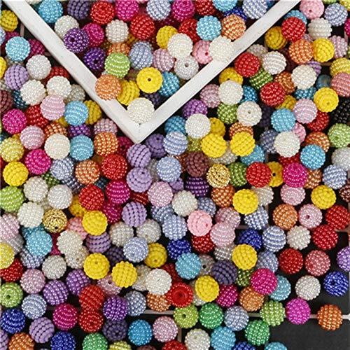 Xuping shop Color Mixto 10 mm 100 unids/Lote ABS imitación Perlas Perlas Redondo ABS Plastic Beads Artes Artesanías DIY Ropa de Costura Tela de Prenda (Color : Mixed Color)
