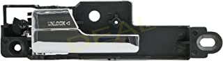 DEAL New 1pc Front Driver Left Black Base Chrome Lever Interior Door Handle Replacement Kit Fit 06-12 Ford Fusion 06-11 Mercury Milan 06 Lincoln Zephyr 07-12 MKZ