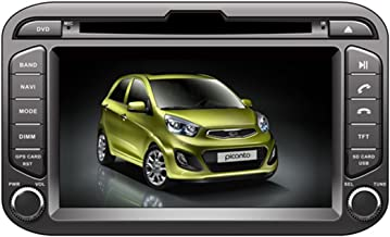 TamYu 7 Inch Touchscreen Monitor Car GPS Navigation System for KIA PICANTO MORNING 2011 Car Stereo DVD Player +Free Backup Rear View Camera+Free US Map