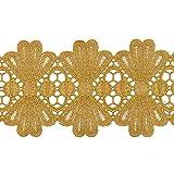 TR-11902 Spitzenbesatz, metallisch, goldfarben, 7,6 cm 3-5/8