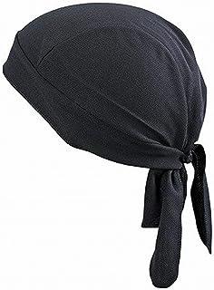 Men Women Cycling Cap Head Scarf Quick Dry Running Riding Headscarf Pirate Hat-Black