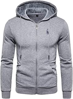 WZHZJ Men's Sweatshirts Streetwear Thick Fleece Hoody Hoodies Men Fashion Cotton Men's Hoodies Coats (Color : Gray2, Size...
