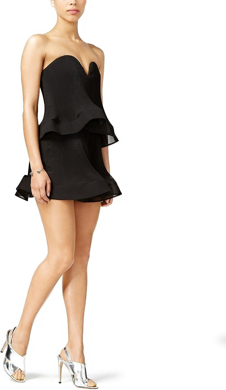 Mare Mare Inna Sweetheart Mini Dress Black