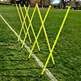 Net World Sports 6FT Slalom Poles [8qty/16qty] Available 25m or 34mm Spring Loaded – Soccer/Football/Sports Agility Training – 24HR Ship (5ft Slalom Poles x 8)