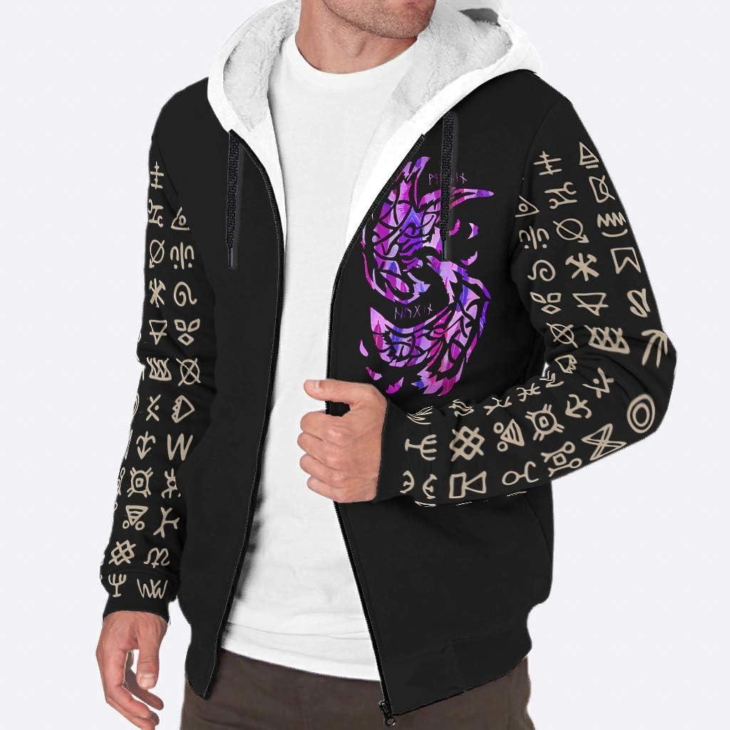 Sheeouis Men's Limited time sale Philadelphia Mall Long Sleeve Full Zip Viking Fleece vikingFashion
