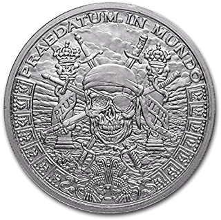 Pieces of Eight Privateer Pirate - 1 oz Silver Shield Round