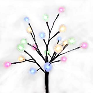 AVEKI Solar Tree Lights Outdoor, LED Fairy Chuzzle Ball Solar Stake Lights Waterproof Solar Powered Landscape Lighting for Garden Patio Pathway Holiday Party Wedding Decor (Chuzzle Ball - RGB)