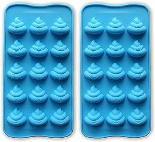 JEWSUN Emoji Cute Poop Candy Mold Chocolate Mold Ice Cube Trays (set of 2)