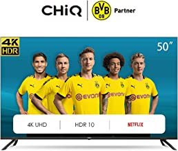 CHiQ U50H7L 4K LED TV, UHD, 50 Pulgadas, Smart TV, Televisión Inteligente, HDR 10/HLG, WiFi, Bluetooth, Prime Video, Youtube, Netflix, HDMI, USB
