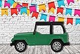 Photocall Coche de Juguete Verde Eventos o Celebraciones   Medidas 2,00 m x 1,02 m   Fiestas y Celebraciones   Cartón Microcanal