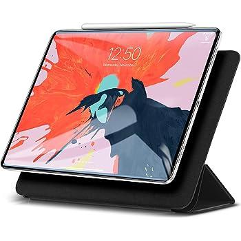 ESR iPad Pro 11 ケース 2018モデル Apple Pencilペアリングとワイヤレス充電機能対応 マグネットス吸着式 オートスリープ機能 スリム 軽量 シルク手触り 高級感 iPad Pro 11インチ専用 スマートカバー(ブラック)