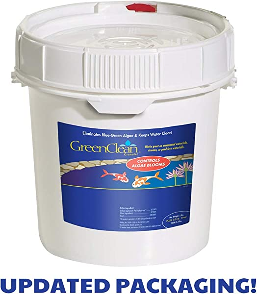 GreenClean Granular Algaecide 8 Lbs String Algae Control For Koi Pond Fountain Waterfall Water Features On Contact EPA Registered