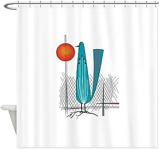 CafePress Mid Century Modern Decorative Fabric Shower Curtain