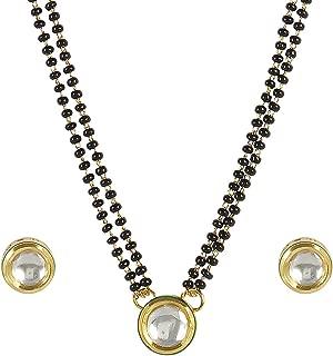 Authentic American Diamond CZ Fashion Jewelry Traditional Mangalsutra Set