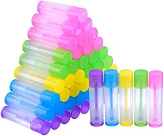 Lurrose Lip Balm Empty Container Clear Gloss Tube Bottles Containers with Twist Bottom and Top Cap