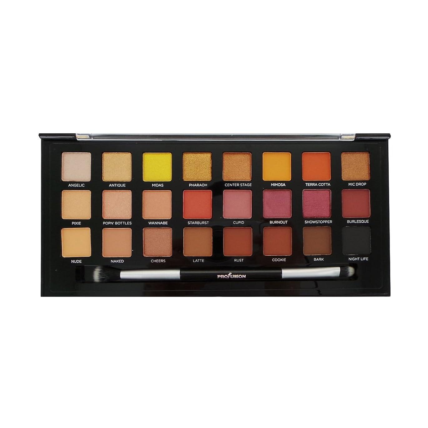 言い直す気味の悪い七時半PROFUSION Glitter & Glam 24 Eyeshadow Palette (並行輸入品)
