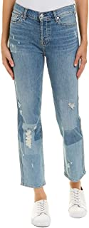 7 For All Mankind Womens Edie w/Patches in Laser Patched Denim